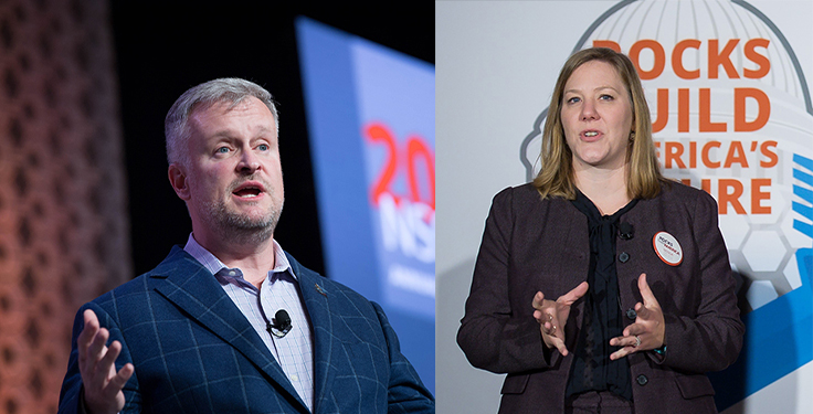 NSSGA's Michael Johnson, left, and Michele Stanley joined P&Q to recap the 2020 election look ahead to the Biden administration, and more. Photos: NSSGA