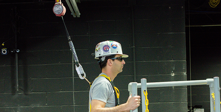 """To help reinforce the proper use of personal fall protection, NIOSH developed two infographics on fall protection (""""As Simple as ABC"""" and """"As Easy as 123"""") that may be posted in useful areas. Photo: NIOSH"""