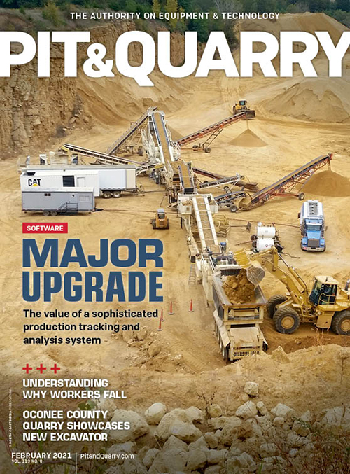 BARD Materials graces the cover of Pit & Quarry's February 2021 edition. Photo: BARD Materials