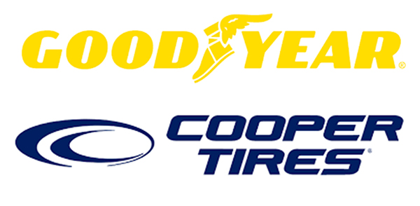 Photo: Goodyear and Cooper Tire logos