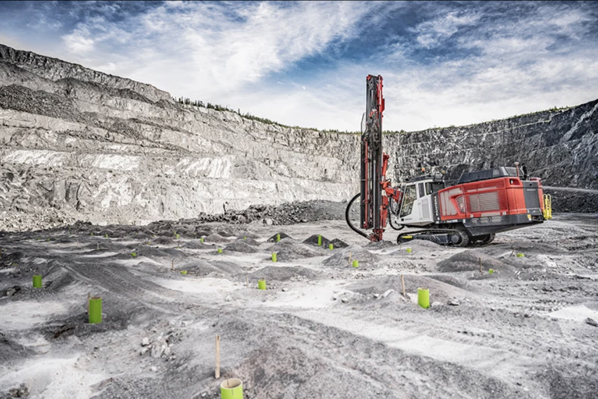 The Pantera DP1600i is the newest member of the Pantera DPi series of intelligent top hammer drill rigs. Photo: Sandvik Mining & Rock Solutions