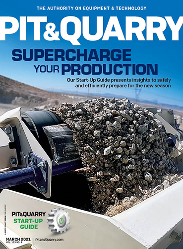 Pit & Quarry's Start-Up Guide takes center stage on our March 2021 cover. Photo: Terex MPS