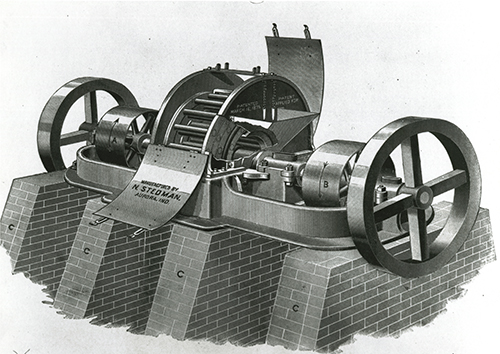 Nathan P. Stedman received a patent for the cage mill crusher in the late 19th century. Photo: Stedman