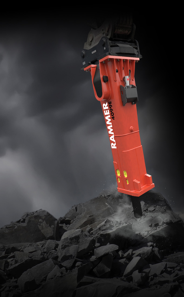 Rammer product lines will expand in 2021 beyond hydraulic breakers and compactors in North America. Photo: Allied Construction Products