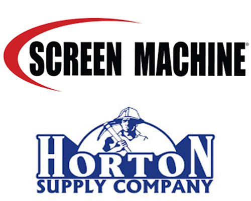 Photo: Screen Machine and Horton Supply Co. logos