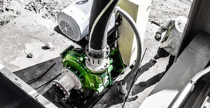 A typical cyclone feed pump arrangement. Photo: Schurco Slurry