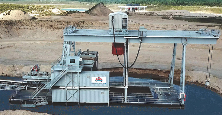 A number of factors are currently driving dredge sales, including challenges with permitting. Photo: Supreme Manufacturing