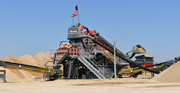 Tri-Parish turned to the UltraWASH 6206 modular wash plant after McLanahan Corp. debuted it at ConExpo-Con/Agg. Photo: McLanahan Corp.