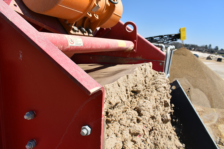 Tri-Parish's particular UltraWASH model is a double-wash system, processing the sand twice before discharge for a cleaner end product. Photo: McLanahan Corp.