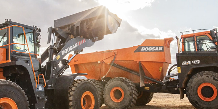 Doosan will feature the -7 Series at World of Concrete. Photo: Doosan