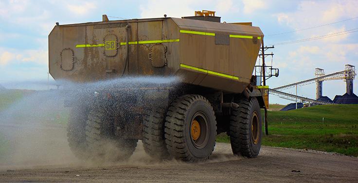 Philippi-Hagenbuch's HiVol water tanks are a solution for dust suppression. Photo: Philippi-Hagenbuch