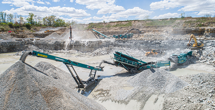 Pro Lawn works closely with Powerscreen Crushing & Screening, a dealer that recently opened a facility in the Indianapolis area. Photo: Powerscreen Crushing & Screening