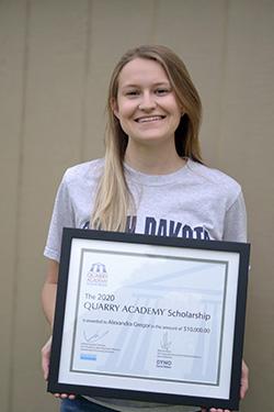 Alexandra Gregor is the recipient of the 2020 Quarry Academy Scholarship. Photo: Sandvik