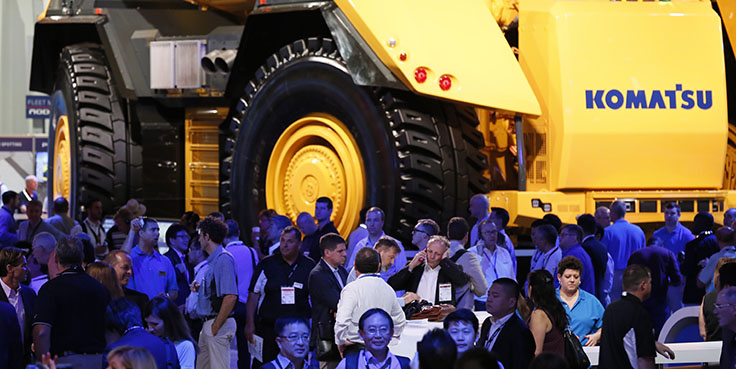 MINExpo International 2021 returns Sept. 13-15 to the Las Vegas Convention Center in Las Vegas. Photo: National Mining Association