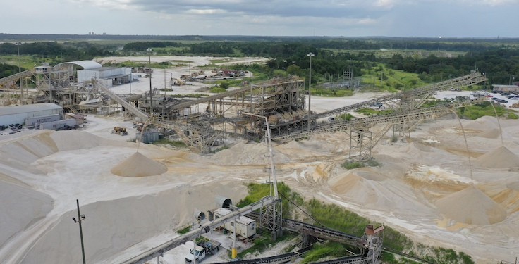 Brooksville Quarry in Brooksville, Florida, was one of two Cemex operations that received NSSGA's 2021 National Star of Excellence Award. Photo: Cemex USA