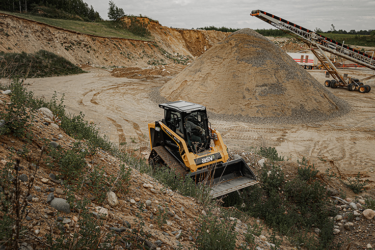 ASV Holdings, a Yanmar Compact Equipment company, designs and manufactures a line of compact track and skid-steer loaders primarily for the construction, landscaping and forestry markets. Photo: ASV Holdings