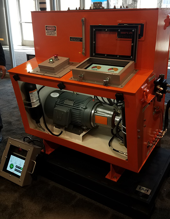 L&H Industrial showcased its crusher monitoring capabilities at MINExpo. Photo: P&Q Staff