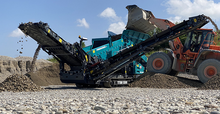Powerscreen says the Titan 1300 has been tested in a sand and gravel application in Germany. Photo: Powerscreen
