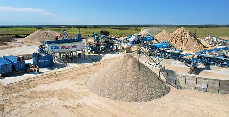 An aerial view of Resource Materials' new CDE wash plant in Texas. Photo: CDE