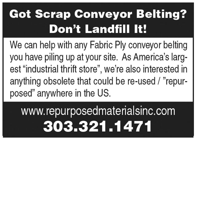 Got Scrap Conveyor Belting?
